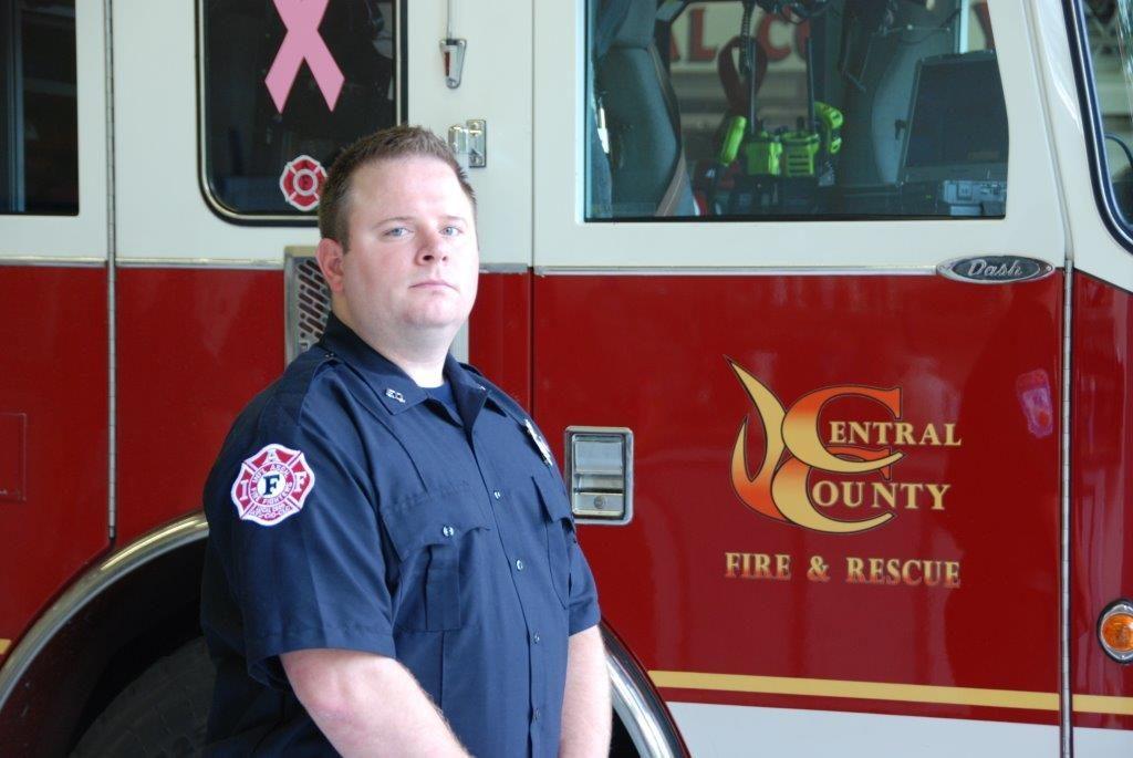 Firefighter Austin Wuertz
