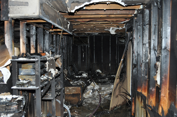 October 25 interior photo of condo fire